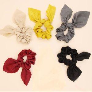 🆕 5 pcs variety pack Bow scrunchies